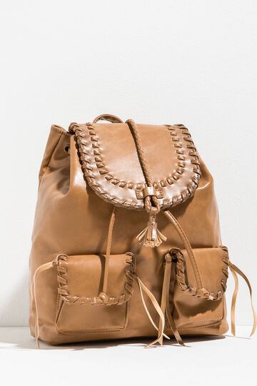 Backpack with braided edging