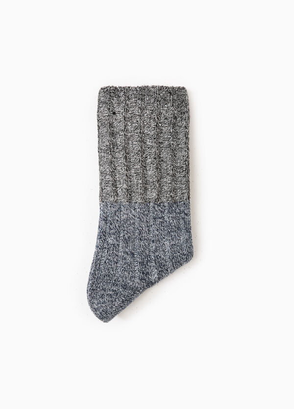 Solid colour wool blend short socks | OVS