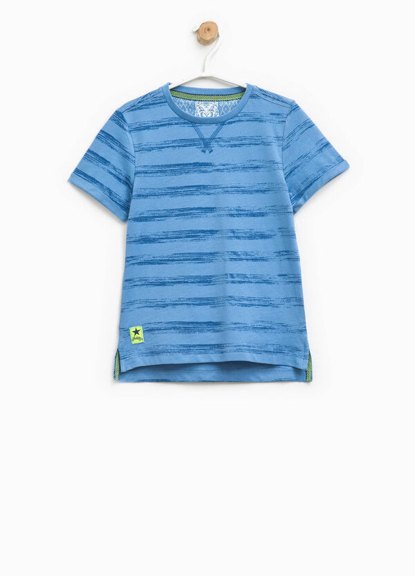 Striped T-shirt with patch | OVS