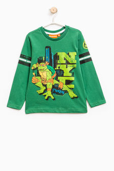 T-shirt with Teenage Mutant Ninja Turtle print, Green, hi-res