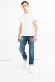 Regular-fit mis-dyed-effect jeans, Medium Wash, hi-res