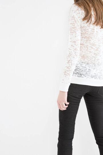 Semi-sheer sweatshirt in cotton