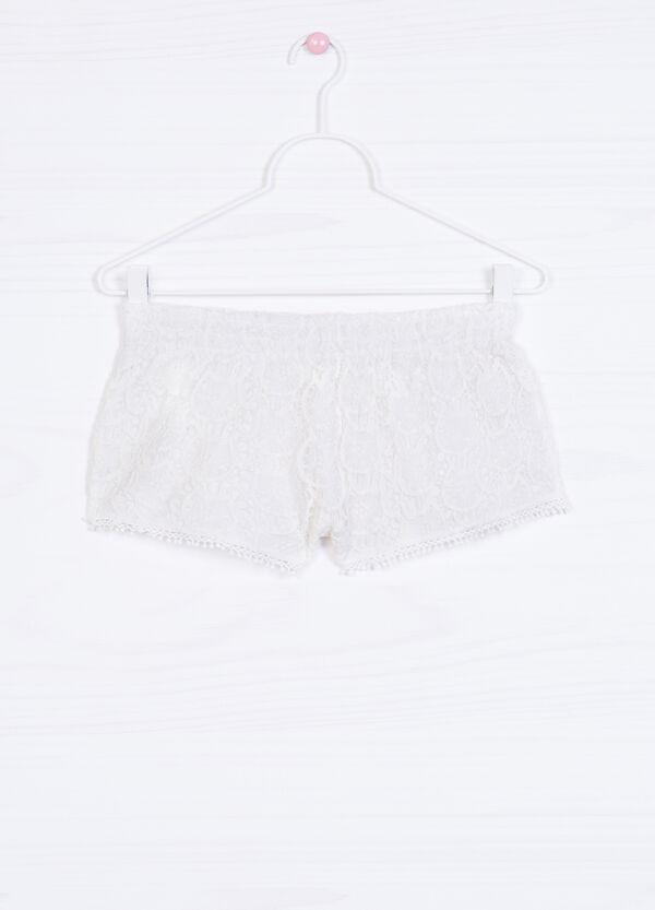 Shorts puro cotone inserto traforato | OVS