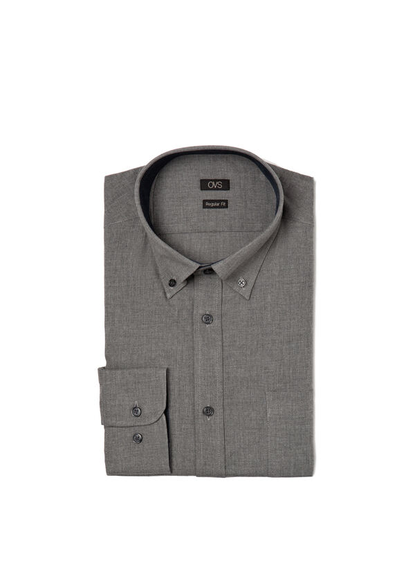 Camicia regular fit puro cotone | OVS