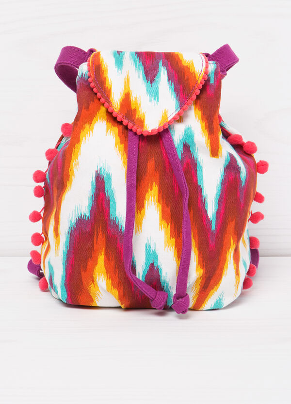 Patterned cotton backpack | OVS