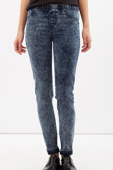Skinny fit stretch jeggings, Denim Blue, hi-res