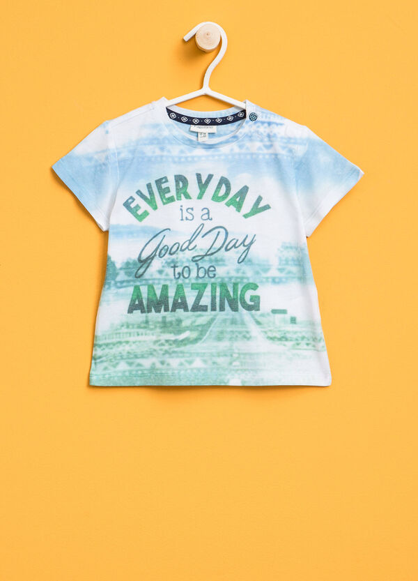 T-shirt with print and pattern | OVS