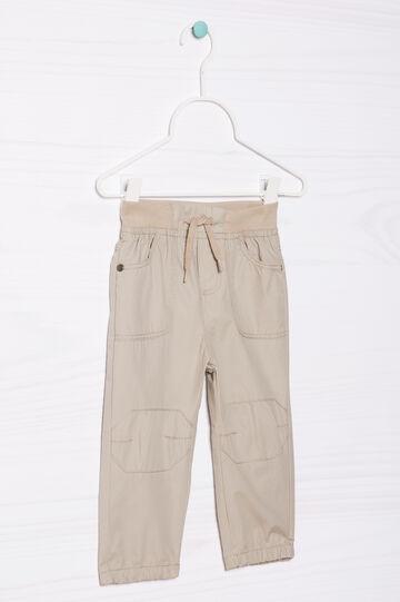 Pantaloni puro cotone con coulisse