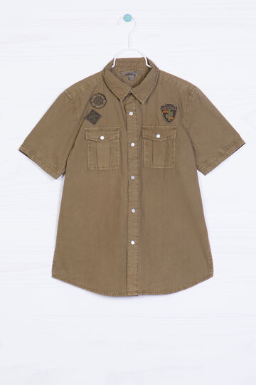 100% cotton shirt with applied patches