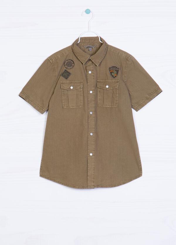 Camicia puro cotone patch applicate | OVS