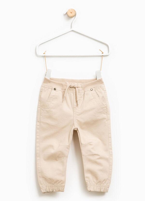 Pantalón con canalé y cordón de ajuste | OVS