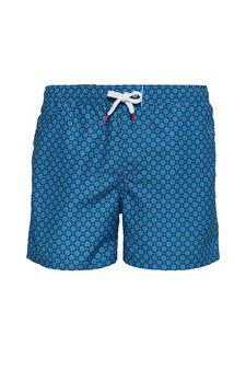 Patterned swim boxer with drawstring, Light Blue, hi-res
