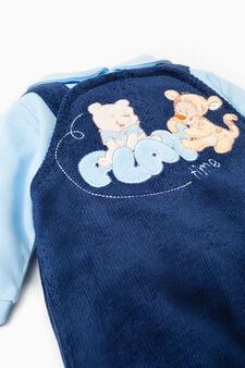 Tutina in velour Winnie The Pooh, Blu/Azzurro, hi-res