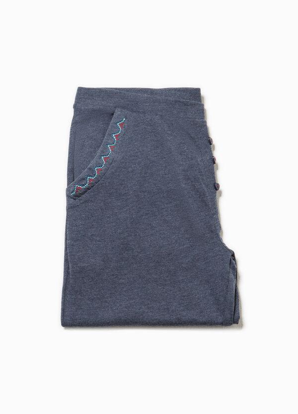 Pantalón de pijama con bolsillos y bordados | OVS