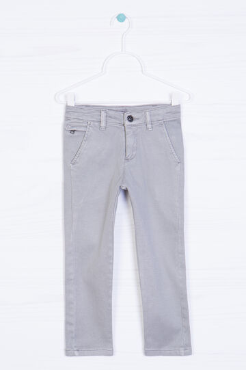 Stretch cotton chinos, Light Grey, hi-res