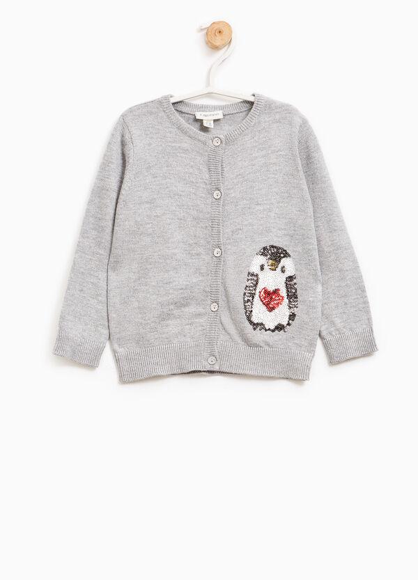 Wool blend sequinned cardigan | OVS