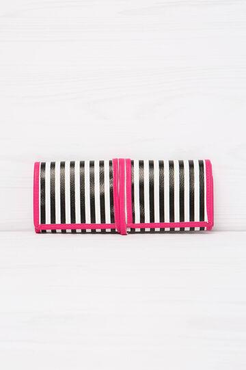 Beauty case con quattro tasche, Bianco/Nero, hi-res