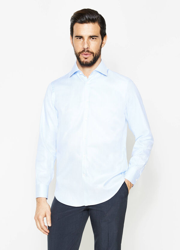 Regular-fit formal shirt with raised weave | OVS