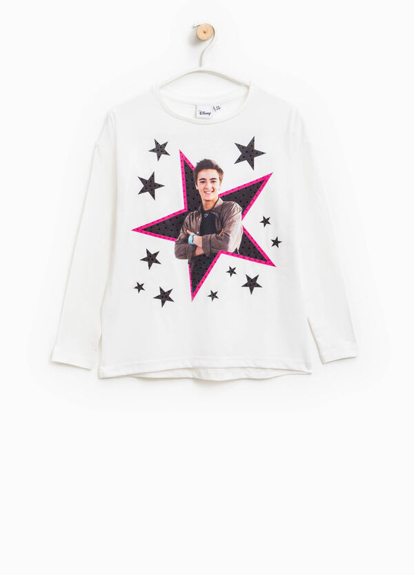 T-shirt con strass e stampa Alex & Co. | OVS