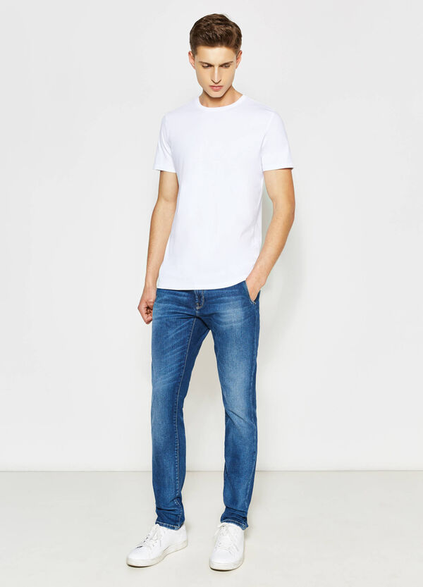 Jeans slim fit stretch con baffature | OVS