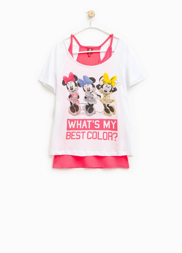 T-shirt Minnie con top interno | OVS