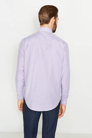 Regular-fit striped formal shirt