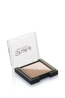 Two-tone eyeshadow., Brown, hi-res