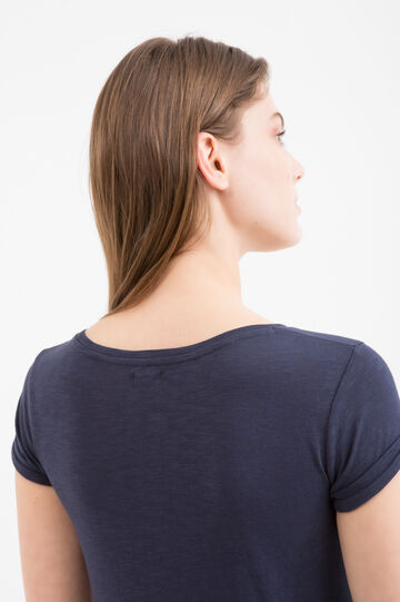 100% cotton T-shirt with pocket, Blue, hi-res