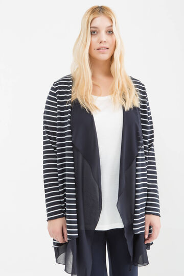 Curvy striped cardigan