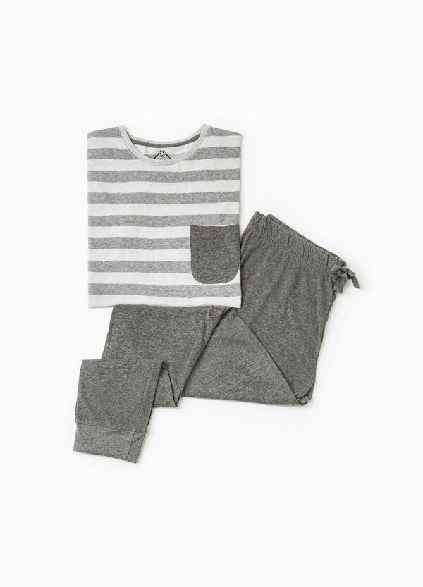 Striped cotton blend pyjamas | OVS