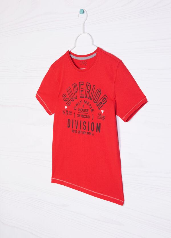 T-shirt con stampa puro cotone | OVS