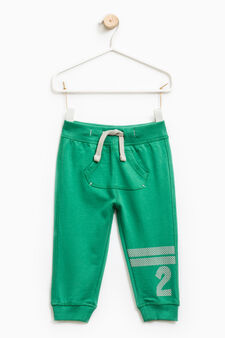 Joggers with pouch pocket, Green, hi-res