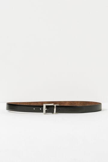 Cintura reversibile bicolore, Nero, hi-res