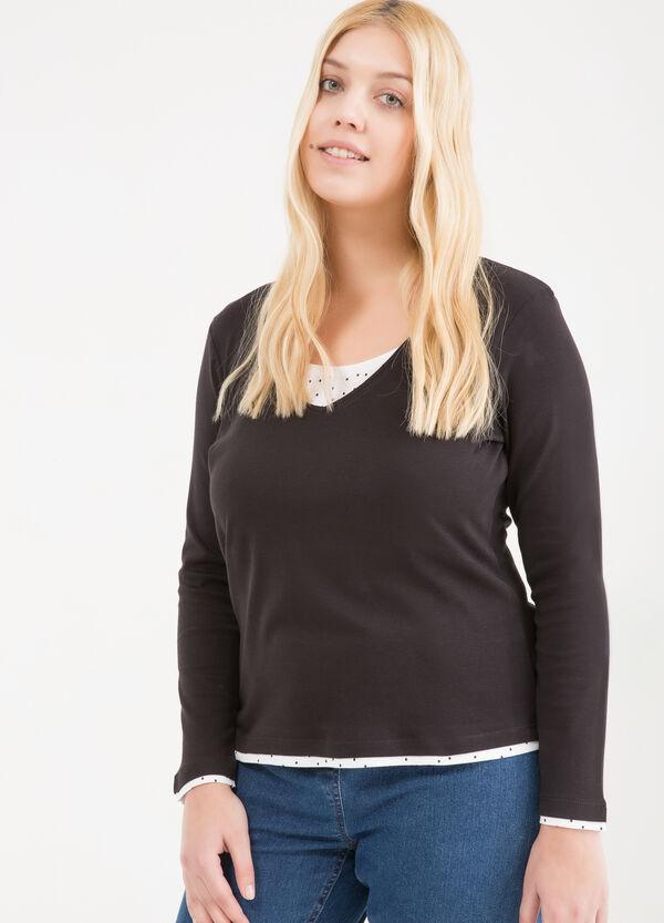 T-shirt finto doppio cotone Curvy | OVS