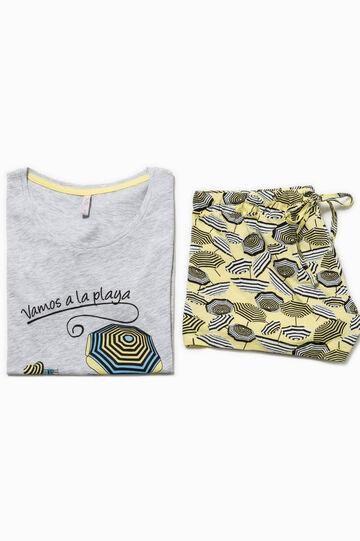 Patterned pyjamas with print