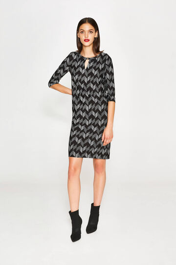 Stretch dress with all-over print