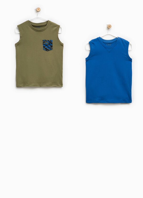 Two-pack vests with round neck | OVS