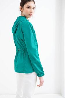 Hooded windbreaker, Emerald Green, hi-res