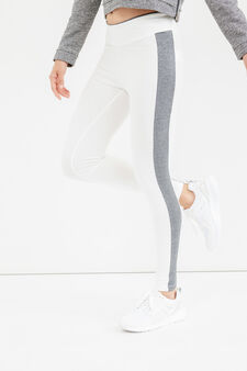 OVS Active Sport Training leggings, Milky White, hi-res