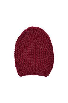 Knitted beanie cap, Grey Marl, hi-res