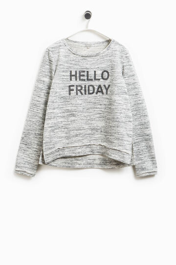 Smart Basic sweatshirt with stripes and sequins