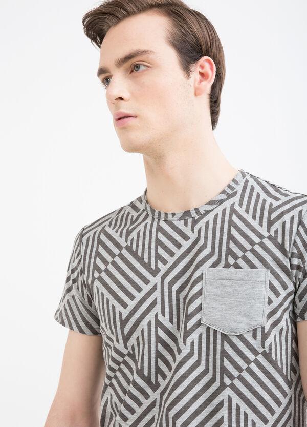 T-shirt misto cotone con taschino | OVS