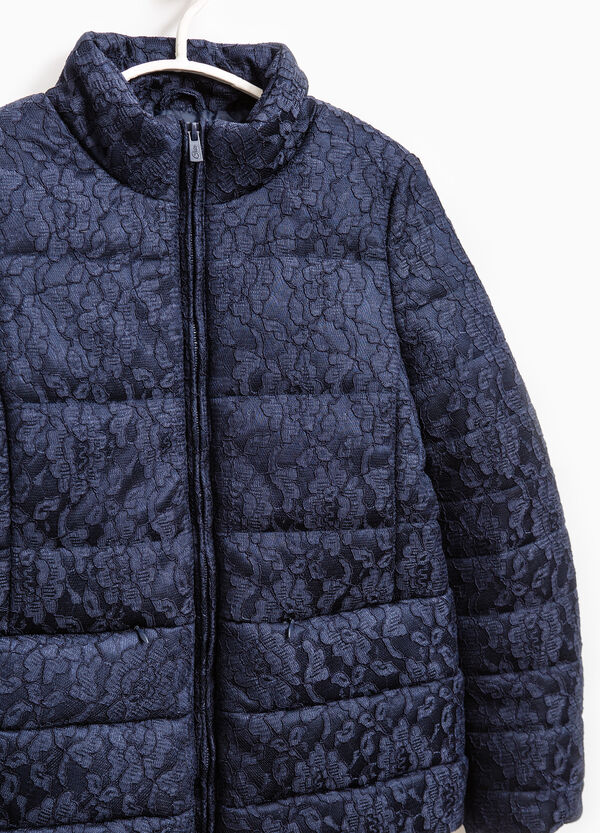 Solid colour down jacket with lace | OVS