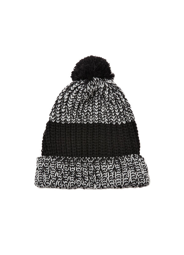 Knitted hat with pompom | OVS