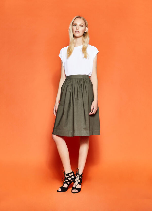 100% cotton longuette skirt | OVS