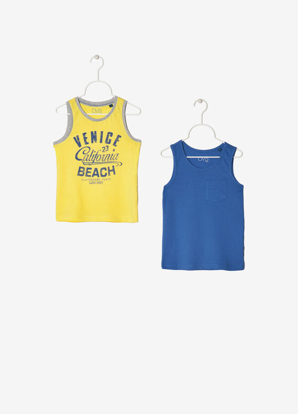 Two-pack cotton vests | OVS