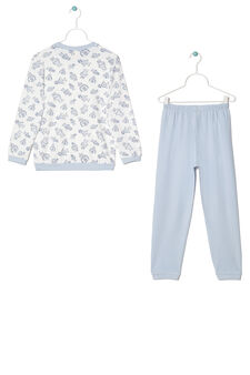 Printed pyjamas in 100% cotton, Cream White, hi-res