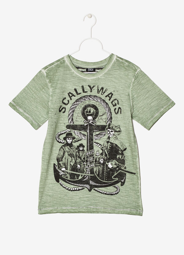 Mélange printed T-shirt | OVS