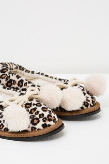 Pantofole ballerine fantasia animalier, Naturale, hi-res
