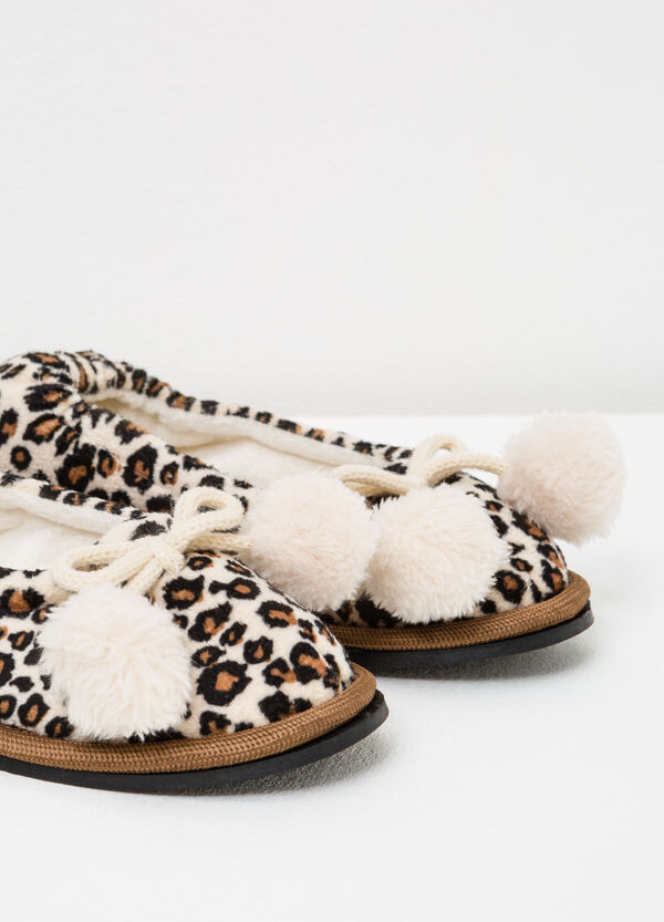 Ballerina slippers with animal pattern | OVS